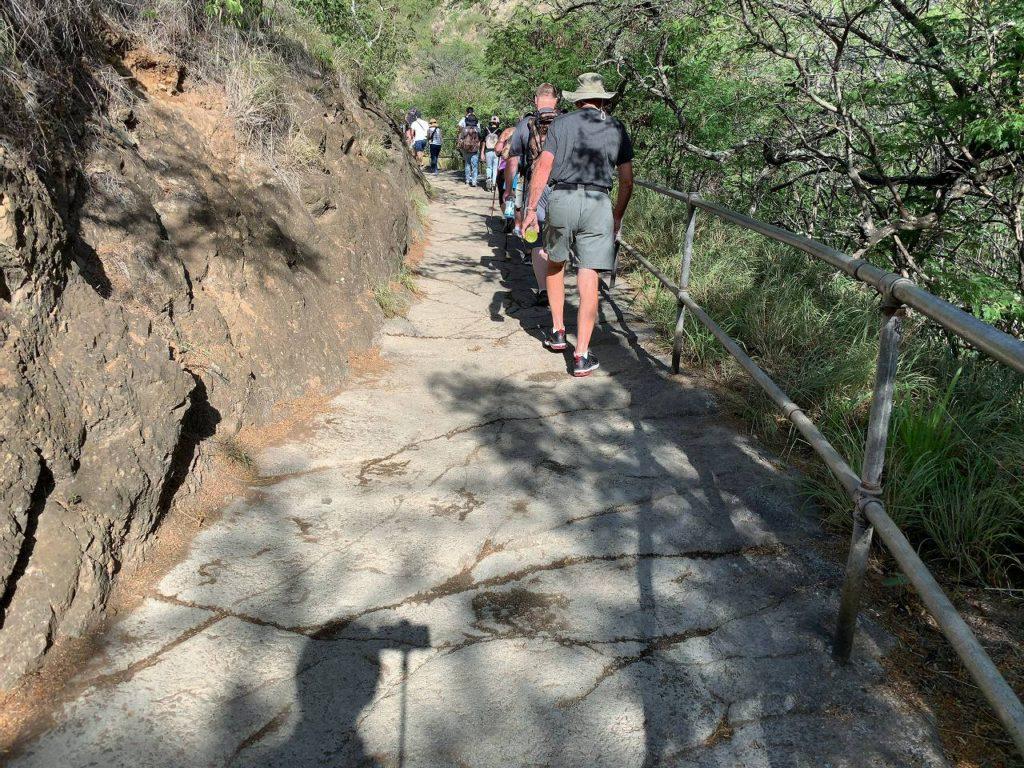 登り途中の道